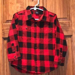 Gap Kids Buffalo Plaid Button Down Shirt